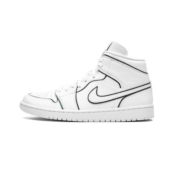 Air Jordan 1 High Outfit Iridescent Reflective White Jordan Sneakers