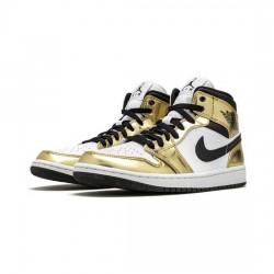 Air Jordan 1 High Outfit Metallic Gold Jordan Sneakers
