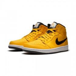 Air Jordan 1 High Outfit Yellow Black Jordan Sneakers