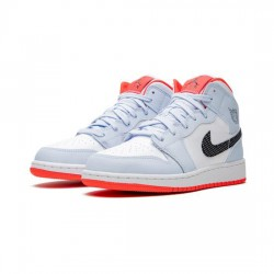 Air Jordan 1 Mid Outfit Blue White Red Jordan Sneakers