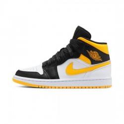 Air Jordan 1 Mid Outfit Red Yellow Swoosh Jordan Sneakers
