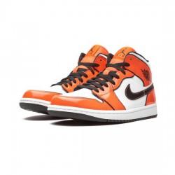 Air Jordan 1 Mid Outfit Turf Orange Patent Jordan Sneakers