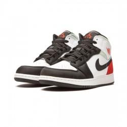 Air Jordan 1 Mid Outfit White Red Black Jordan Sneakers
