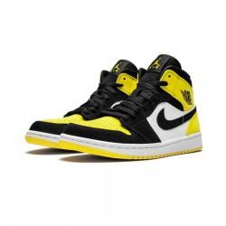 Air Jordan 1 Mid Outfit Yellow Toe Jordan Sneakers
