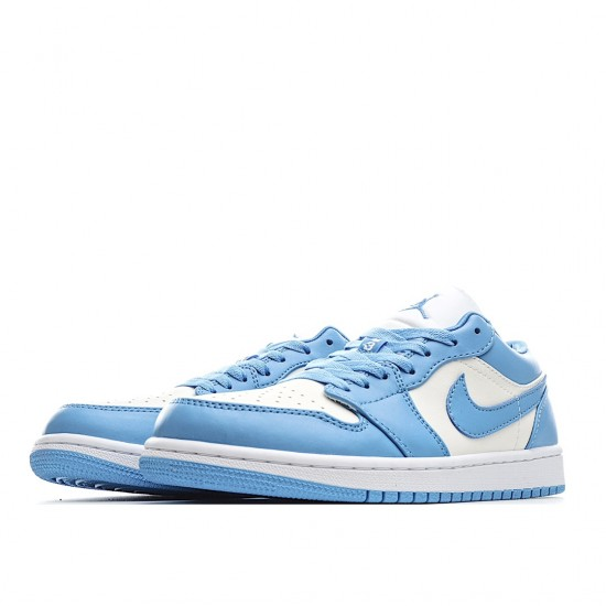 Air Jordan 1 Low Outfit SB University UNC Blue White Women Men AJ1 AO9944 441