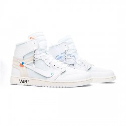 Air Jordan 1 Outfit OG  White White Men Women AJ1 AQ0818 100