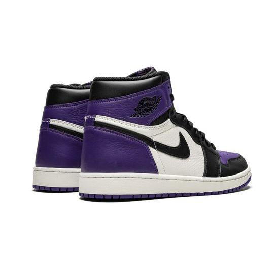 Air Jordan 1 Retro High Outfit Outfit Court Purple White Black Women Men AJ1 555088 501