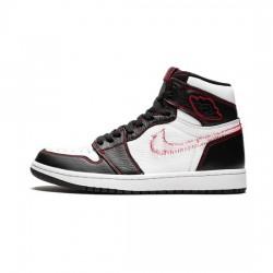 Air Jordan 1 Retro High Outfit Defiant White Retro Red Jordan Sneakers