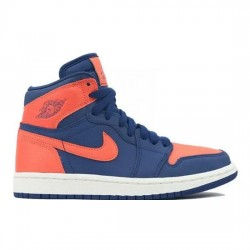 Air Jordan 1 Retro High Outfit Blue Void Orange Blue Women Men AJ1 555088 035