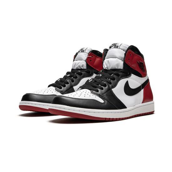 Air Jordan 1 Retro High Outfit OG Black Toe White Red Women Men AJ1 555088 125