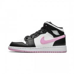 Air Jordan 1 Mid Outfit White Black Light Arctic Pink Jordan Sneakers