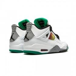 Air Jordan 4 Outfit Do The Right Thing White Black Green Jordan Sneakers