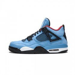 Travis Scott X Jordan 4 Outfit Blue Black Jordan Sneakers
