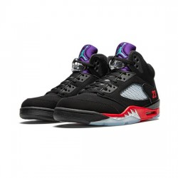 Air Jordan 5 Outfit Grape Fire Red Jordan Sneakers