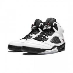 Air Jordan 5 Retro Outfit Paris Saint Germain White Jordan Sneakers